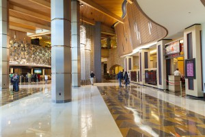 Lobby walkway by restaurants_sm