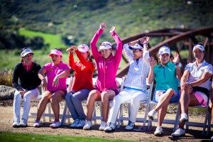 Lpga players do the wave