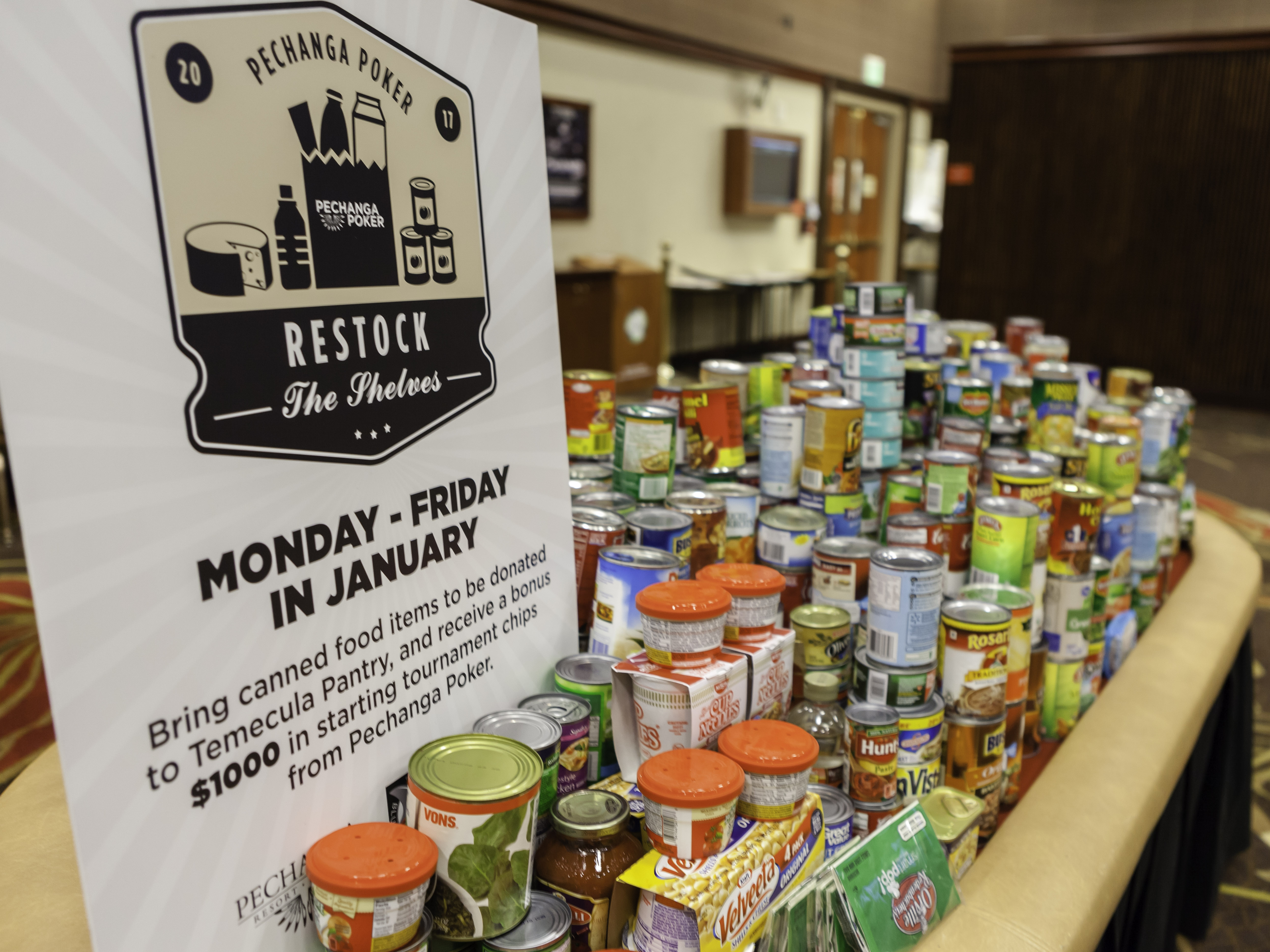 Pechanga Poker Restocks More Than 1 000 Pounds Of Food For